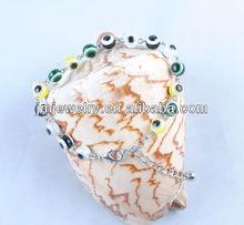 Metal chain bracelet with turkey eyes (J.M.Fashion) J.M.B-052