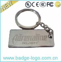 2013 custom metal blank rectangular keychain
