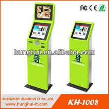 17 19 inch dual screen LCD monitor kiosk display kiosk design ideas kiosk furniture