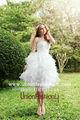 فستان زفاف جديد 2013 up131114 قصيرة المدة ترتدي الابيض، اتحاد أزياء الحجاب زفافي