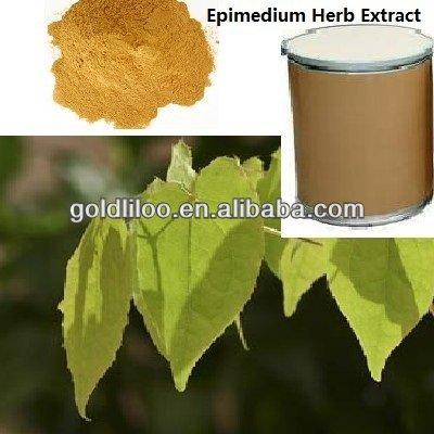 GMP&ISO 100% nature Epimedium Extract (5%~60% Icariin)