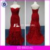 swd003 2013 new style sexy sweetheart neckline ruffled mermaid real sample evening dress