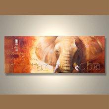 Wholesale Handmade Elephant Canvas Art Painting