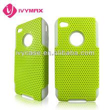 luxury combo case PC silicone 2 in 1 for iphone 4/4S protector de celular en siicona
