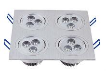 Square AR111 recessed halogen ceiling light