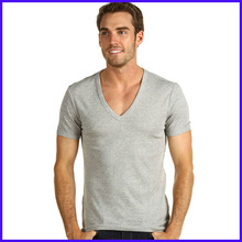 2012 latest men's v neck plain t shirt ,t shirt wholesale