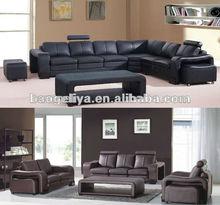 Italian cow leather corner sofa C266