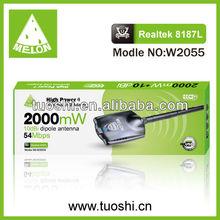 High gain wireless usb network adapter,54mbps,Realtek 8187L chipset,2000MW,10dbi