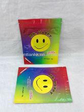 4g 12g Mr.happy potpourri bag/printing Smile face plastic packaging bag/aluminum foil bag with zip lock