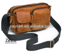 2013 Hot sale factory direct supply fashion genuine leather men shoulder handbag