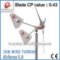 1kw-100kw molino de viento generador, generador de viento, el viento generador de turbina de 48v generador de viento.