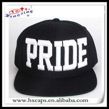 Black plain snapbacks square brim basketball cap peak plastic