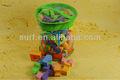 Surf de espuma bloques de construcción de plástico bloques de construcción de juguetes 100 unids