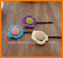 Fancy Girls' hair bobby pins button hairpins