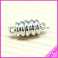 2 mm trou 18 * 8 mm Antique Sprial motif laiton magnétique collier fermoir MGC-148