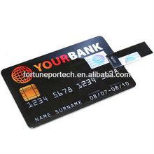 Gifted plastic card usb flash drives/flip card usb flash memory