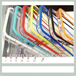 New Creative Design Silicone Rubber Frame TPU PC Bumper Case for iPhone5 5G
