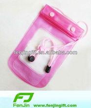 clear pvc waterproof bag for phone