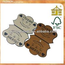 Recycled bamboo wooden hang tag