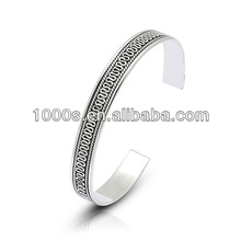 Stainless Steel Cuff Bangle, Antique Plating Jewelry