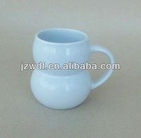 Funny shaped ceramic coffee mug