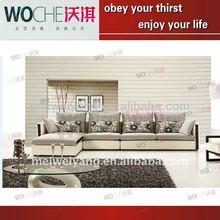 Modern simple style leather fabric corner sofa/home furniture(WQ5802)