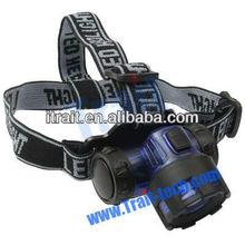 Portable 3 x AAA battery climbing fishing hunting flashlight headlight high power zoom headlamp led