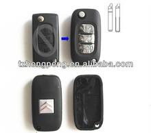 410# citroen key with middle trunk button auto key case