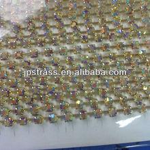 colorfl crystal rhinestone cup chain