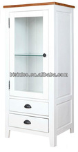 European Style English Country Modern Wine Cabinet/Showcase with Chest of Drawers, Living Room Furniture, Bisini Furniture