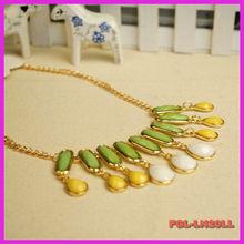 Fashion Bib Necklace Women Resin Jewelry