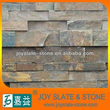 Natural rusty stone brick cladding different size wall stone