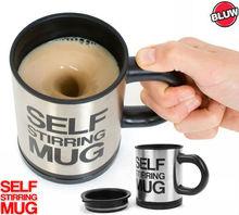 New Stainless Plain lazy Self Stirring Mug Auto Mixing Tea Cup Coffee Mug