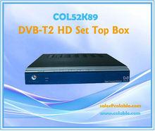 COL52K89 dvb-t2 decoder, dvb-t2 se top box with hdmi port, mpeg4 hdmi tv decoder