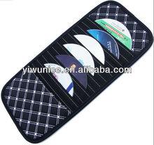 High quality PU leather Car cd dvd carrying case bag cd dvd storage wallet case holder bag