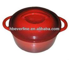 red enamel cast iron casseroles