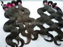 No shedding brazilian virgin hair extenion, natural color body wave virgin human hair weft