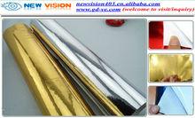 Chrome Mirror Gold Car Wrap Vinyl Sticker/Chrome Car Body Wrapping Film 1.52x30m