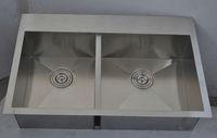 Topmount double bowl handmade stainless steel inox sink