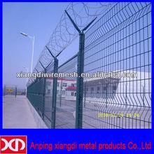 hot dip galvanized razor barbed wire fencing installation