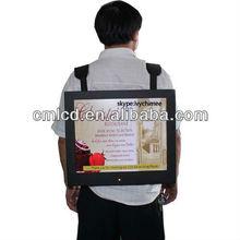 22'' TFT LCD Backpack mobile advertising board,walking advertising board