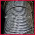 亜鉛メッキ/ungalvanizedスチールワイヤーロープ、 6*19+iwrc、 クレーンの使用