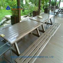 Outdoor wpc backless garden bench