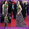 Colorful Flowers Spaghetti Strap Tulle Design Celebrity Red Carpet Dresses Dresses