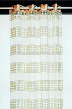 100%polyester embroidery curtain