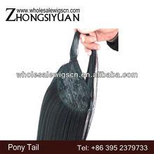 Silky straight wave 100% Japanese kanekalon synthetic ponytail