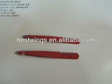 2013 Stainless Steel Tweezer with Comb Beauty Eyebrow Tools