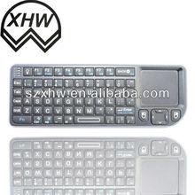 High technology black mini keyboard remote control