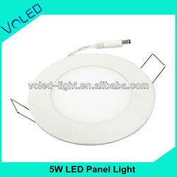 5W Led Panel Light Night Club CE ROHS FCC UL LVD SMD3014 Epistar Mini Round Embed Led Panel Light