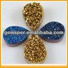 D060319 Custom agate druzy gemstone jewelry beads